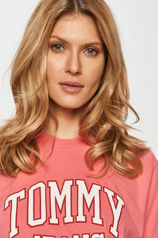 roz Tommy Jeans - Tricou