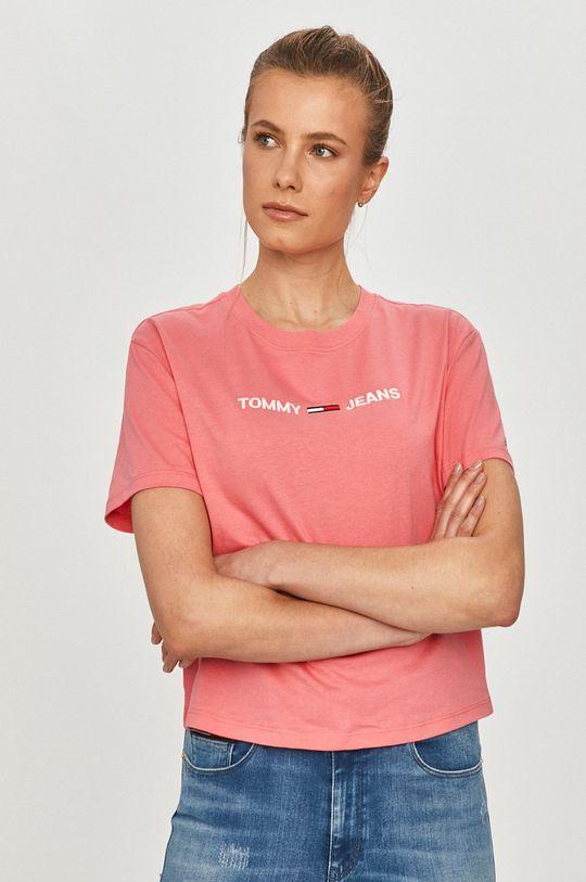 różowy Tommy Jeans - T-shirt Damski