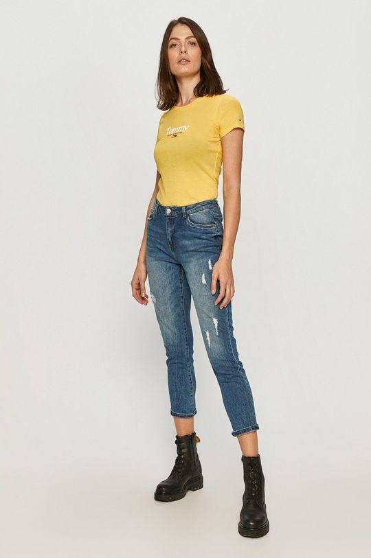 Tommy Jeans - Tričko žltá