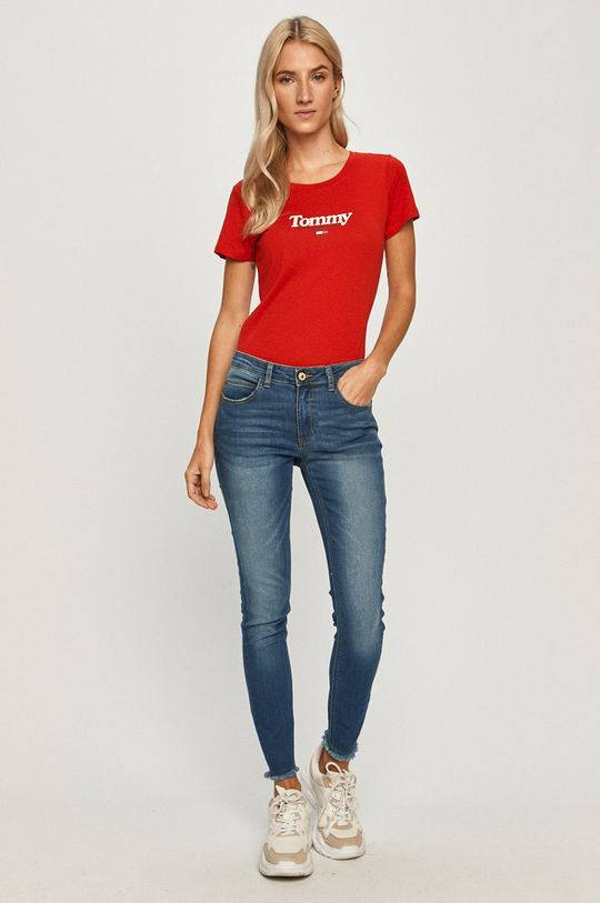Tommy Jeans - Tricou rosu
