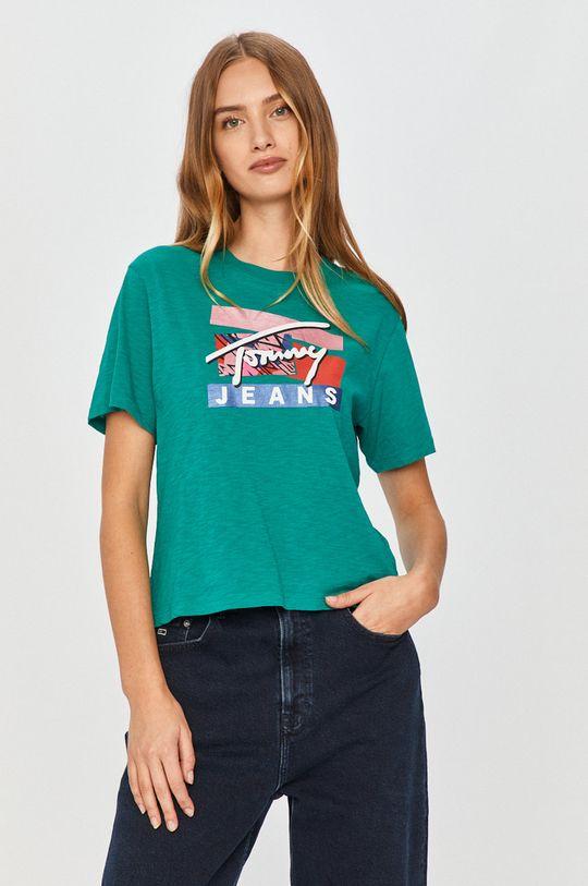 turcoaz Tommy Jeans - Tricou De femei
