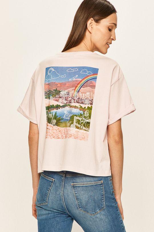 pastelowy różowy Wrangler - T-shirt Damski