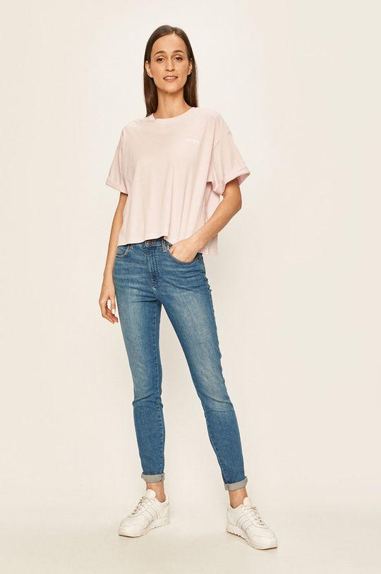 Wrangler - T-shirt pastelowy różowy