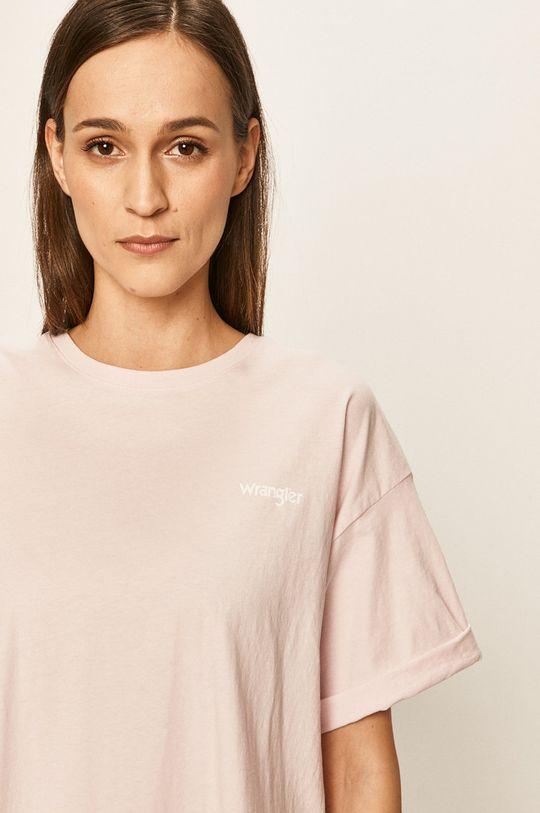 pastelowy różowy Wrangler - T-shirt