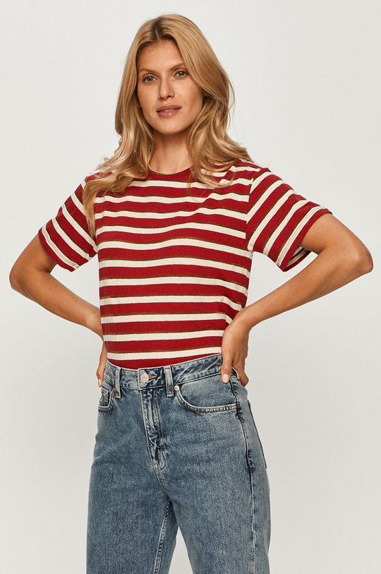 červená Pepe Jeans - Tričko Camile Dámský