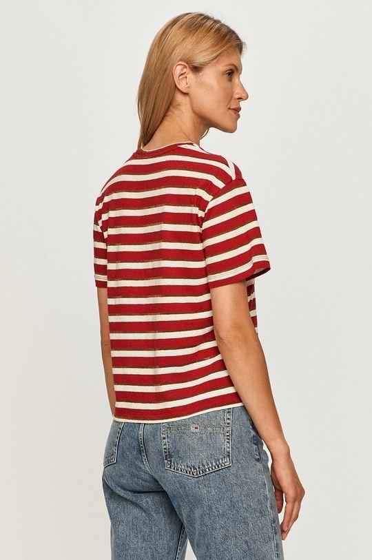 Pepe Jeans - Tričko Camile  42% Bavlna, 52% Len, 3% Polyester, 3% Kovové vlákno