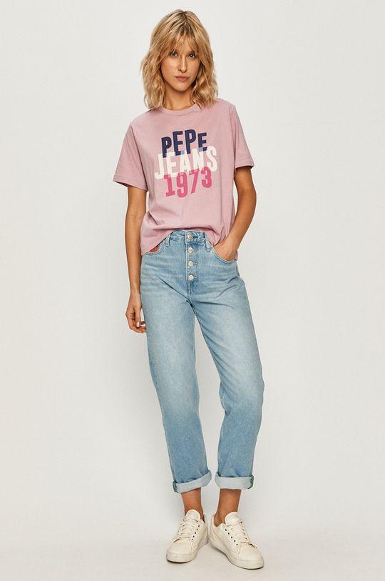 Pepe Jeans - T-shirt Adele orchidea