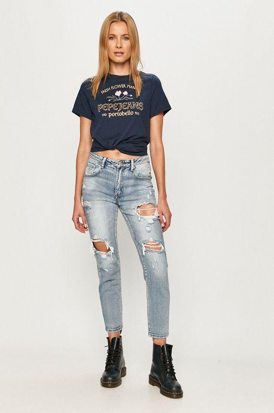 Pepe Jeans - Tricou Aisha bleumarin