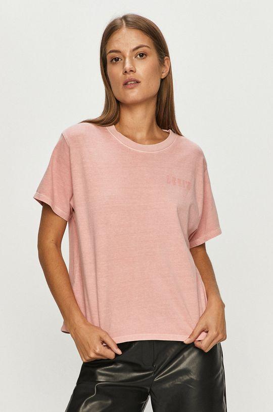 różowy Levi's - T-shirt Damski