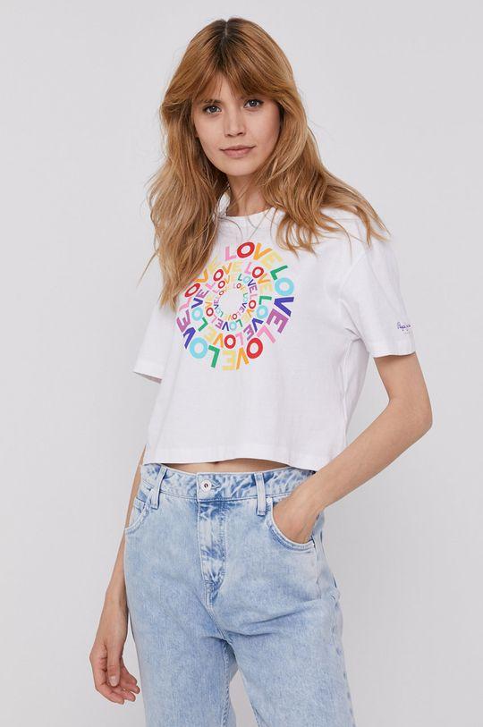 biały Pepe Jeans - T-shirt Marsha Pride Damski