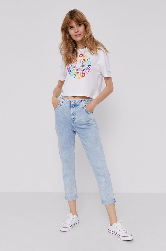 Pepe Jeans - T-shirt Marsha Pride biały