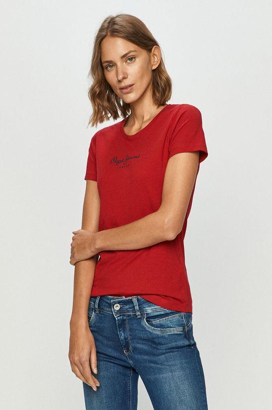 rosu ascutit Pepe Jeans - Tricou Virginia De femei