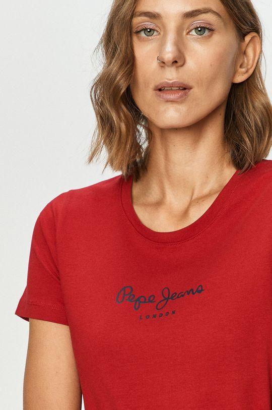 rosu ascutit Pepe Jeans - Tricou Virginia