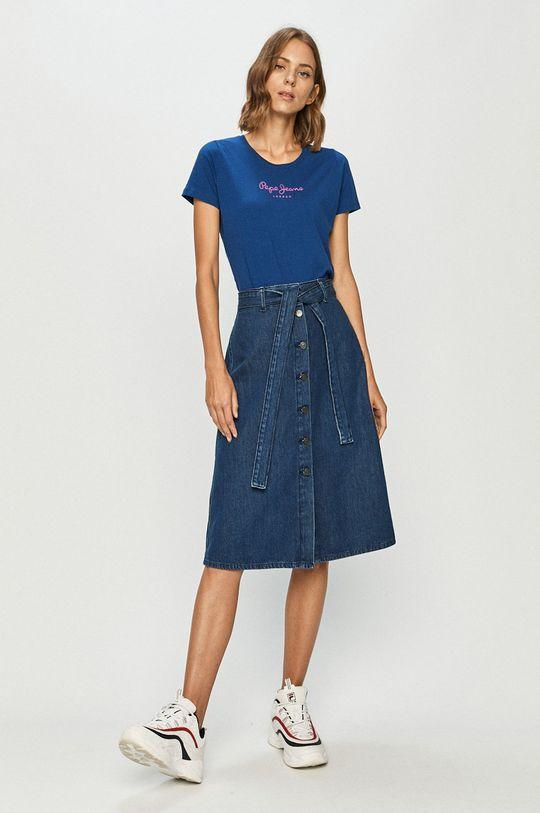 Pepe Jeans - T-shirt Virginia niebieski