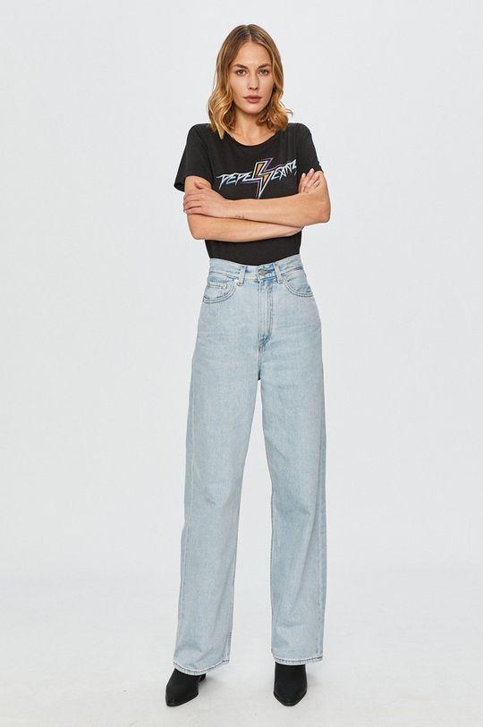 Pepe Jeans - Tricou Dafne negru