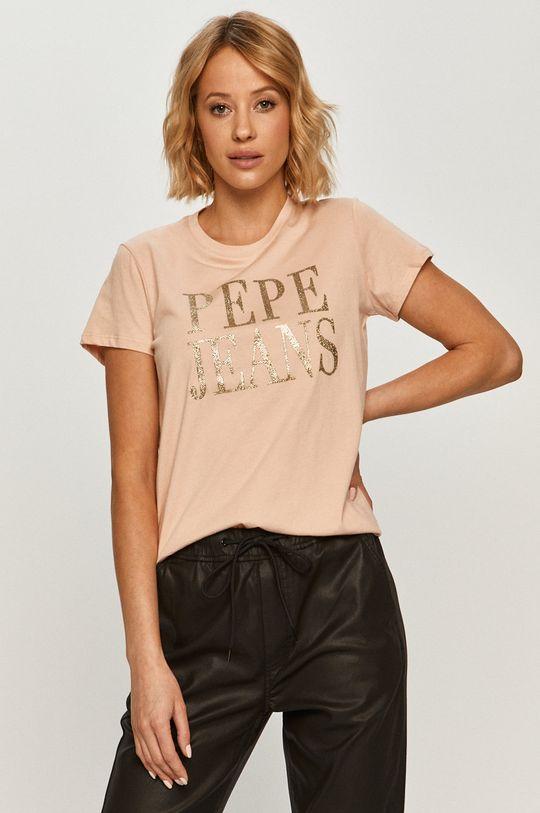 rózsaszín Pepe Jeans - T-shirt Lucila Női