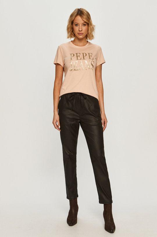 Pepe Jeans - T-shirt Lucila rózsaszín