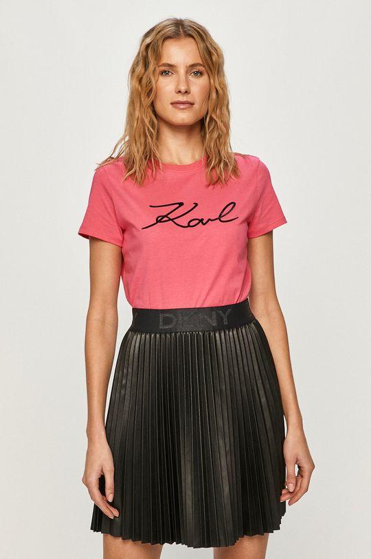 ostrá růžová Karl Lagerfeld - Tričko Dámský