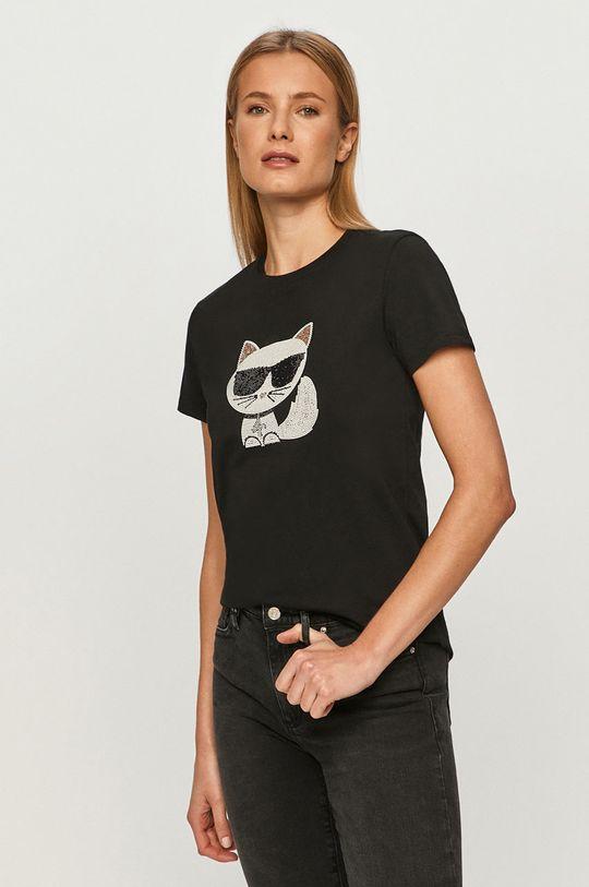 černá Karl Lagerfeld - Tričko Dámský