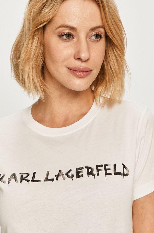 alb Karl Lagerfeld - Tricou