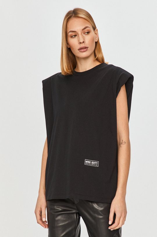 czarny Miss Sixty - T-shirt Damski