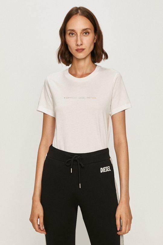 biały Diesel - T-shirt Damski