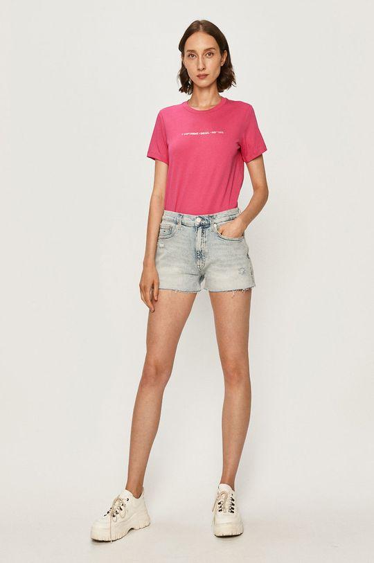 Diesel - T-shirt różowy