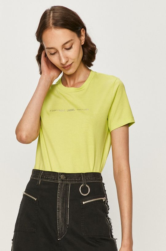 żółto - zielony Diesel - T-shirt
