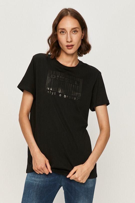 czarny Diesel - T-shirt Damski