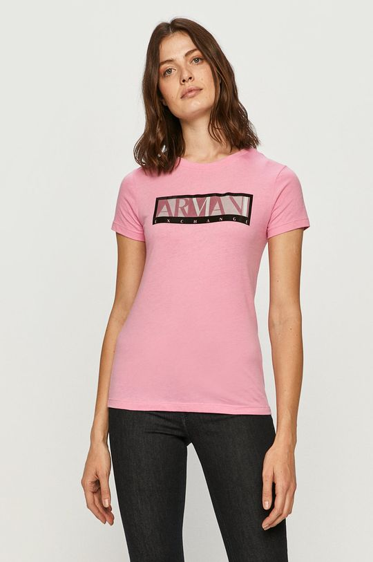 růžová Armani Exchange - Tričko Dámský