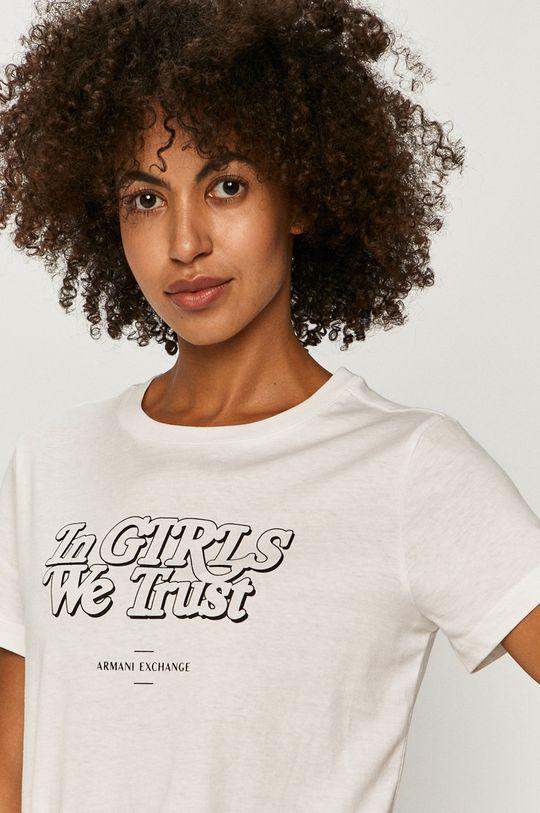 biela Armani Exchange - Tričko