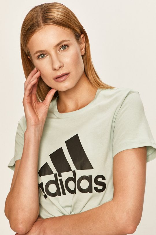 blady niebieski adidas Performance - T-shirt