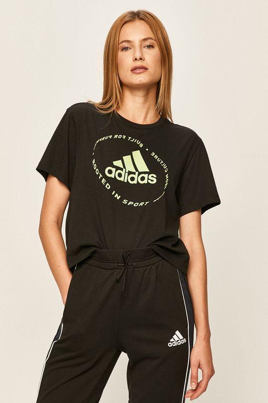 černá adidas - Tričko Dámský