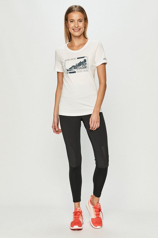 adidas Performance - T-shirt biały