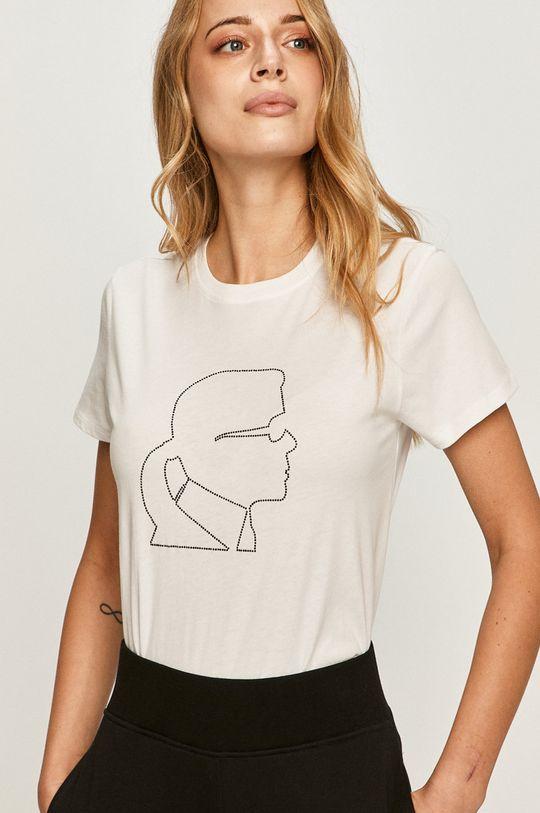 biela Karl Lagerfeld - Tričko Dámsky