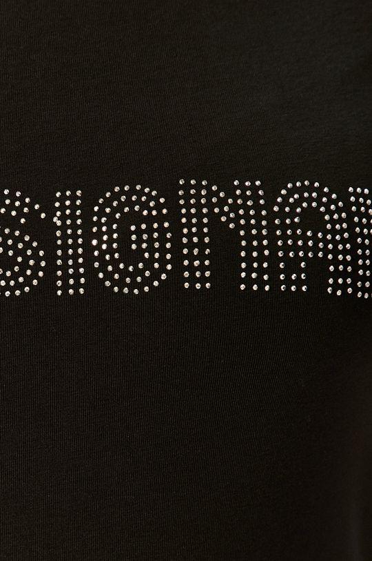 čierna Silvian Heach - Tričko