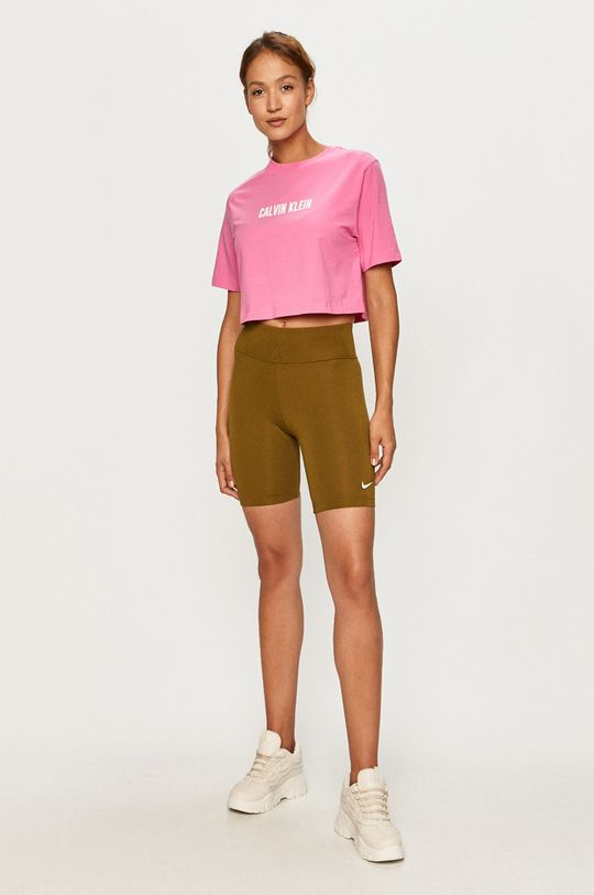 Calvin Klein Performance - T-shirt ostry różowy