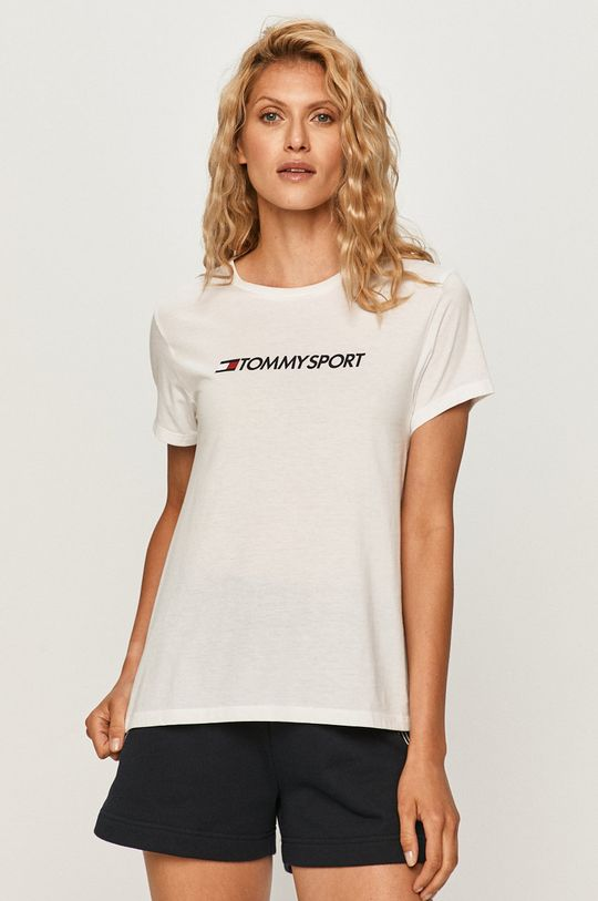 biela Tommy Sport - Tričko Dámsky