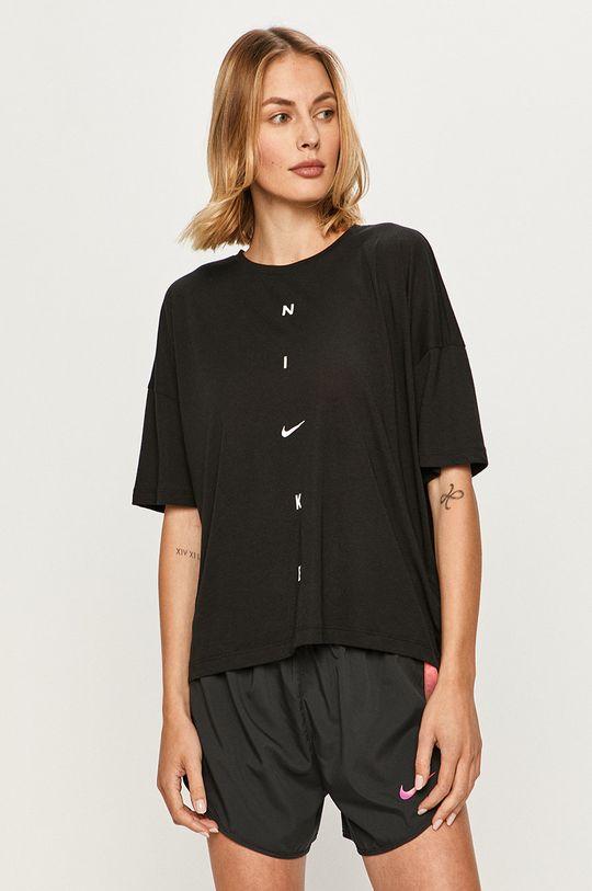 czarny Nike - T-shirt Damski