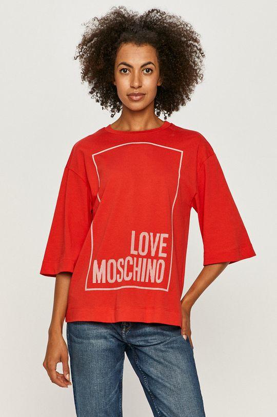 czerwony Love Moschino - T-shirt Damski