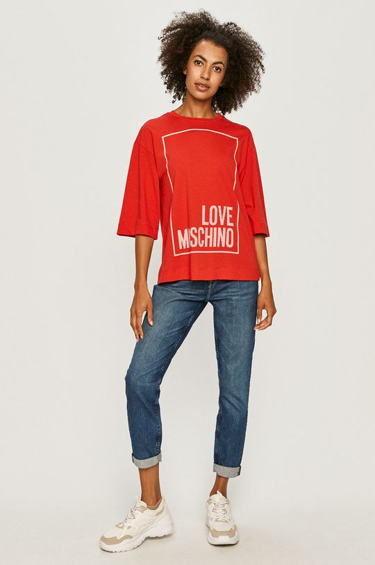 Love Moschino - T-shirt czerwony