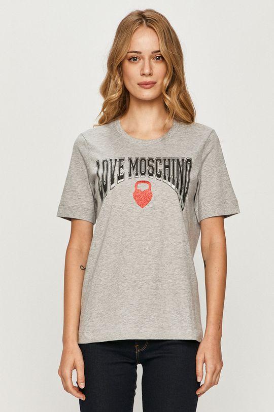 jasny szary Love Moschino - T-shirt Damski