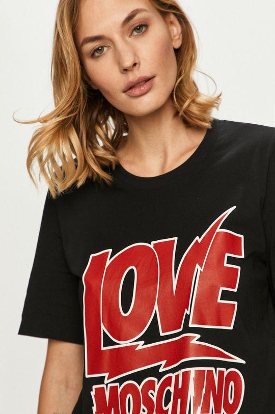 čierna Love Moschino - Tričko Dámsky