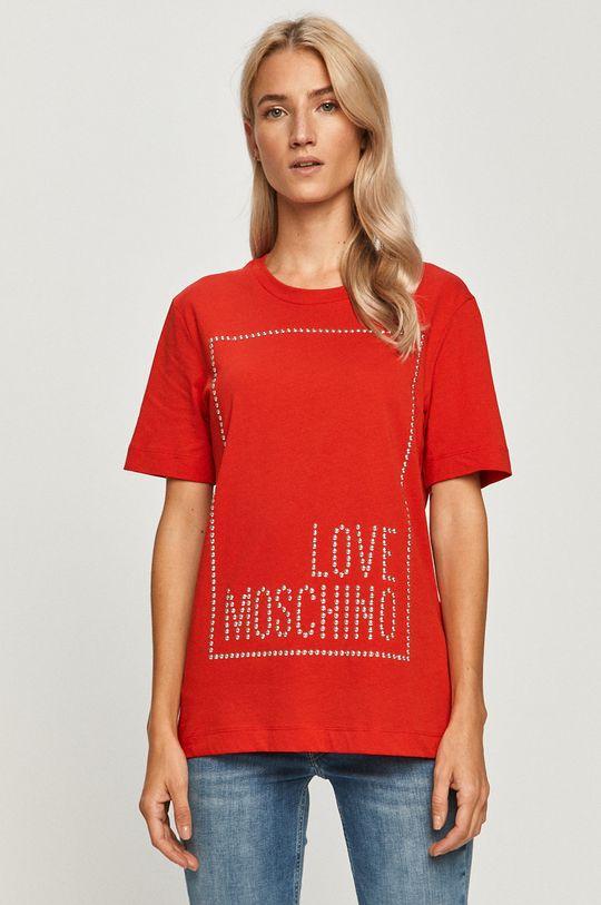 rosu Love Moschino - Tricou De femei