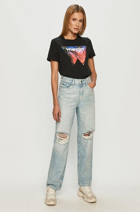 Wrangler - T-shirt fekete