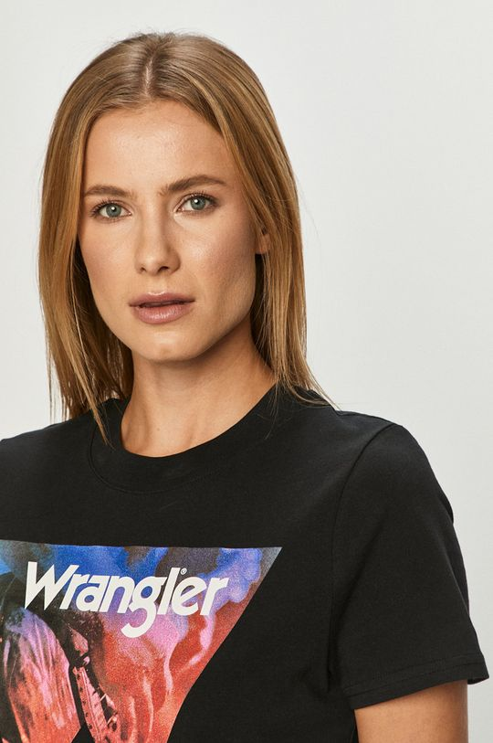 fekete Wrangler - T-shirt