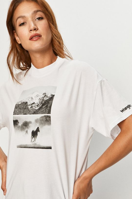 alb Wrangler - Tricou De femei