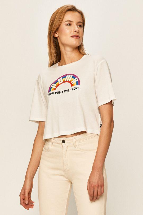 biały Puma - T-shirt Damski