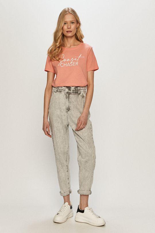 Tally Weijl - T-shirt ostry różowy
