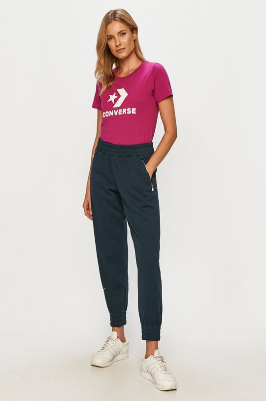 Converse - T-shirt fioletowy